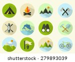 summer camping icons | Shutterstock .eps vector #279893039