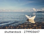 Origami Paper Sailboat Sailing...