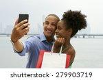black tourist heterosexual... | Shutterstock . vector #279903719