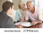 senior couple meeting with... | Shutterstock . vector #279906161