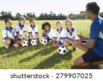 Group Of Children In Soccer...