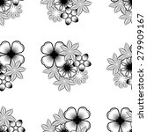 seamless wallpaper pattern with ... | Shutterstock .eps vector #279909167
