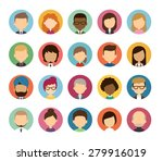 set of diverse round... | Shutterstock .eps vector #279916019