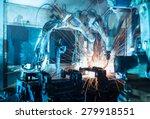 team welding robots represent... | Shutterstock . vector #279918551