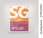 abstract banner or logo  lorem... | Shutterstock .eps vector #279922007