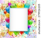 illustration birthday card with ... | Shutterstock . vector #279926105