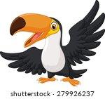 cartoon happy bird toucan | Shutterstock .eps vector #279926237