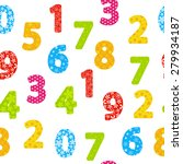 seamless pattern with color... | Shutterstock .eps vector #279934187
