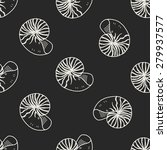 shell doodle seamless pattern...   Shutterstock . vector #279937577