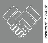 handshake icon.   Shutterstock . vector #279938609