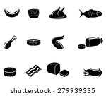 meat and sea food vector icons | Shutterstock .eps vector #279939335