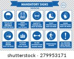 mandatory signs  construction... | Shutterstock .eps vector #279953171