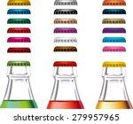 colorful bottle caps vector | Shutterstock .eps vector #279957965