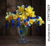 still life with a bouquet of...   Shutterstock . vector #279973829