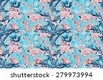 beautiful vintage seamless... | Shutterstock . vector #279973994