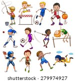 set of people playing different ... | Shutterstock .eps vector #279974927