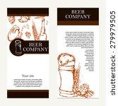 vector banners set of beer... | Shutterstock .eps vector #279979505
