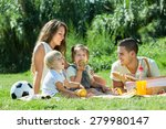 young cheerful family with... | Shutterstock . vector #279980147