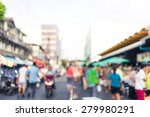 a crowd of people moving on the ... | Shutterstock . vector #279980291