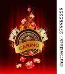 casino background with cards ... | Shutterstock .eps vector #279985259