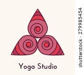 yoga lotus studio   vector... | Shutterstock .eps vector #279985454