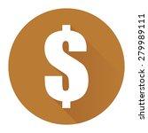 brown circle dollar currency...
