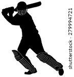cricket player  illustration on ... | Shutterstock .eps vector #279994721