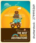 colorful traveling poster with... | Shutterstock .eps vector #279995369