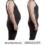 male before and after. weight... | Shutterstock . vector #280032395