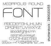 trendy modern elegant font... | Shutterstock .eps vector #280033355