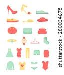 vector woman fashion clothing...