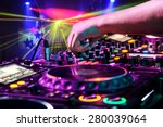 dj mixes the track in the... | Shutterstock . vector #280039064