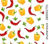 seamless pattern with yellow... | Shutterstock . vector #280042751