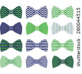 cute navy and green bow tie... | Shutterstock .eps vector #280044515