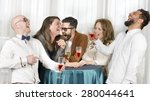 friends laughing hilarious in a ... | Shutterstock . vector #280044641
