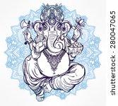 Hindu Elephant Head God Lord...