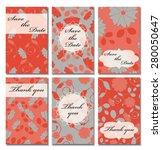 vintage vector card templates.... | Shutterstock .eps vector #280050647