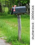 Rural Mailbox On A Old Wooden...