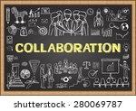 business doodles on chalkboard... | Shutterstock .eps vector #280069787