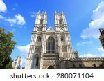 Westminster Abbey With Blue Sk...