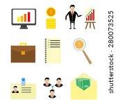 management icon flat