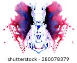 purple  blue with black patches ... | Shutterstock . vector #280078379