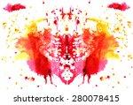 raspberry  yellow watercolor... | Shutterstock . vector #280078415