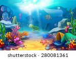 illustration  the happy ocean... | Shutterstock . vector #280081361