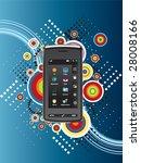 technology mobile background | Shutterstock .eps vector #28008166
