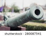 thai antique cannon with film...   Shutterstock . vector #280087541