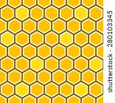 seamless honey comb colorful... | Shutterstock .eps vector #280103345