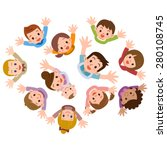 smile of the children and... | Shutterstock .eps vector #280108745