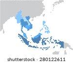 hexagon shape south east asia... | Shutterstock .eps vector #280122611