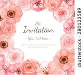 Flower Wedding Invitation Card...